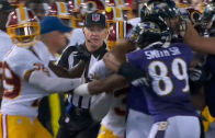 Scuffle breaks loose between Ravens & Redskins