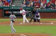 Jacob DeGrom issues a five-ball walk