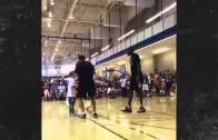 Kevin Durant moon swats little kids shot at basketball camp