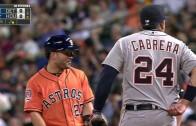 Miguel Cabrera & Jose Altuve untuck each other's jerseys