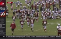 Washington Redskins & Houston Texans huge training camp brawl