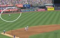 Fan drills Brett Gardner with baseball after throwing back homer!