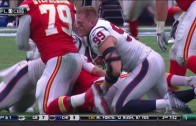 JJ Watt gets helmet knocked off & still manages to record the sack