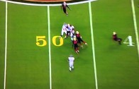 Adrian Peterson carries 49ers defenders on for a ride