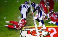Beast: Von Miller flips TE Travis Kelce with one hand