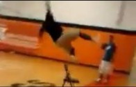 Damn: Guy tries to dunk off of chair & fails miserably