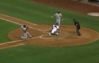Elvis Andrus steals home & does it in 3.19 seconds
