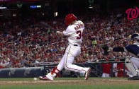 Fair Or Foul? Bryce Harper fakes a foul ball off of him to avoid ground out