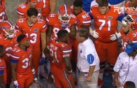 Florida coach Jim McElwain goes off on RB Kelvin Taylor for gesture