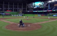 Nuts: Dee Gordon scores on a single from 1st base