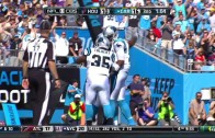 Panthers' Cam Newton does a front flip for a TD