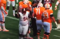 Bowling Green defensive lineman loses his shoe & plays dead to stop the clock