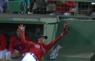Unreal: Mookie Betts robs homer to end the game