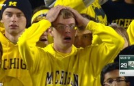 Michigan fan in tears after brutal loss to Michigan State