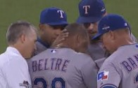 Adrian Beltre leaves ALDS game in tears after lower back injury