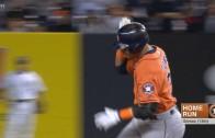 Carlos Gomez belts a solo homer off of Masahiro Tanaka