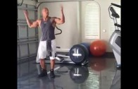 "Dwayne ""The Rock"" Johnson breaks out the Hit The Quan dance"