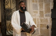 molino una taza de Acostumbrar  James Harden gets a truck full of Adidas shoes in new commercial