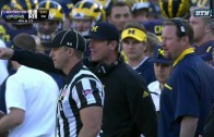Jim Harbaugh freaks out up 31-0 on Northwestern