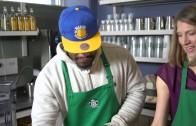 "Marshawn Lynch has a ""Beast Mode"" coffee at Starbucks"