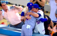 Mets fan kisses & tells Mets manager Terry Collins he loves him