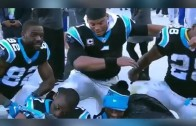 "Cam Newton & Panthers teammates do a team ""dab"""