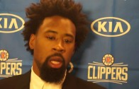 DeAndre Jordan addresses the media following first game in Dallas