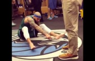 """Deron Williams with a hilarious """"what are those?"""""""
