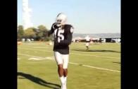 Raiders WR Michael Crabtree can pick it