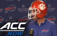 Rex Ryan wears Clemson helmet during Bills press conference