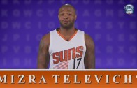 Suns players attempt to spell Mirza Teletović's name