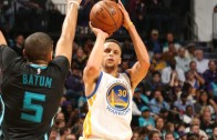Steph Curry hits the rainbow 3-pointer vs the Charlotte Hornets