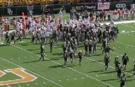 Texas & Baylor get in an almost full team brawl