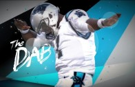 Cam Newton shows Erin Andrews how to dab