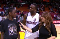 Dwayne Wade's son critiques his Dad's dunking
