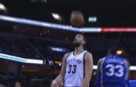 "Marc Gasol scores a ""header"" during Grizzlies & 76ers"