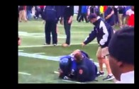 Memphis football player Reggis Ball attacks Auburn staff member