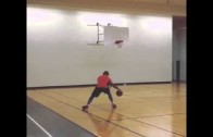 MLB player Brett Lawrie shows off his handle & jumper in basketball