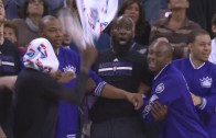 Quincy Acy with a priceless reaction to Rajon Rondo's dunk