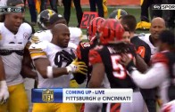 Steelers & Bengals get in a pre-game scuffle