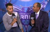 Steph Curry interviews his dad Dell Curry