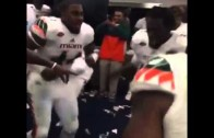 This is how the Miami Hurricanes get down after a win