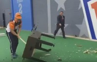 """Bengals fan smashes foosball table to try and lift """"Cheers"""" playoff curse"""