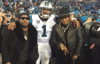 Cam Newton with Future & Young Jeezy before NFC Championship