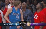 Dirk Nowitzki hits the game winner & gets some butt tap love from Kobe