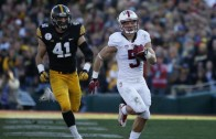 Christian McCaffrey 75-yard touchdown reception on first play in the Rose Bowl