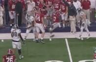 Alabama's Kenyan Drake with an epic flop during the Cotton Bowl