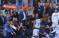 LeBron James puts Devin Harris on a screensaver