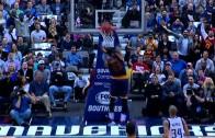 "LeBron James throws down the ""Mail Man"" slam"