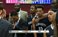 Monmouth Vs. Iona brawl at the end of the game